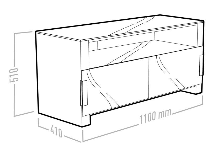 erard bilt1100 blanc 036743 achat vente meuble tv sur. Black Bedroom Furniture Sets. Home Design Ideas