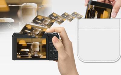 Panasonic dmc tz55 noir dmctz55efk achat vente for Mp4 qui fait appareil photo
