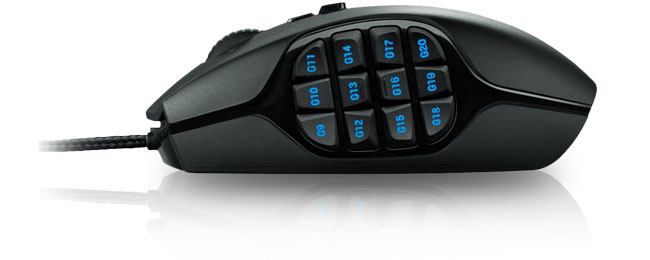 logitech g600 mmo gaming mouse noir 910 003624 achat. Black Bedroom Furniture Sets. Home Design Ideas