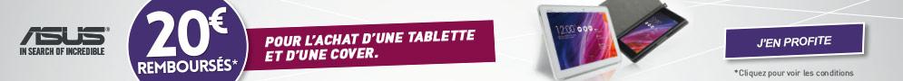 Jusqu'au 15 avril, ASUS rembourse 20€ pour l'achat d'une tablette et d'une Cover éligibles
