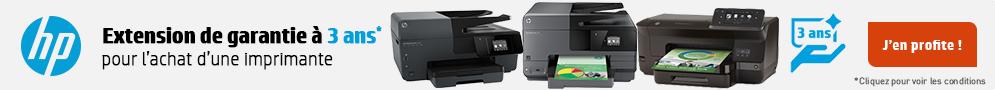 Jusqu'au 31 décembre, HP offre l'extension de garantie à 3 ans pour l'achat d'une imprimante éligible