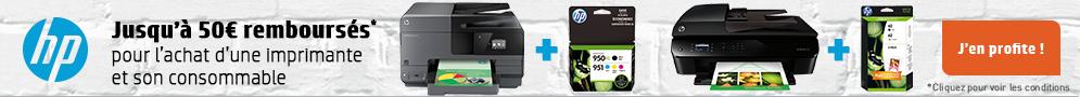 Jusqu'au 15 avril, HP rembourse jusqu'à 50€ pour l'achat d'une imprimante et de son pack consommables éligibles