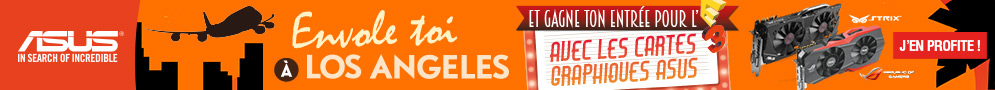 Jusqu'au 18 mai, ASUS vous propose de gagner par tirage au sort un voyage à Los Angeles pour l'achat d'un produit éligible