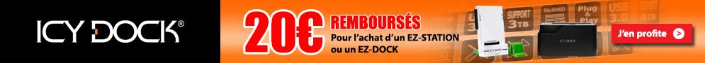 Jusqu'au 31 mai, Icy Dock rembourse 20€ pour l'achat d'une dock station éligible