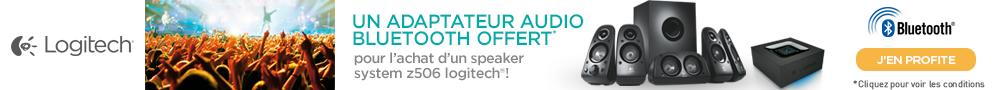 Jusqu'au 21 juin, Logitech offre 1 adaptateur audio Bluetooth pour l'achat d'un Speaker System Z506