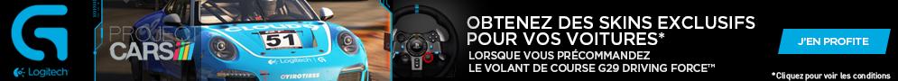 jusqu'au 15 août, obtenez gratuitement des contenus pour le jeu Project Cars pour l'achat d'un volant Logitech G29