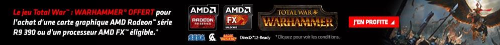 Jusqu'au 15 août, AMD offre le Jeu PC Total War: Warhammer pour l'achat d'un produit éligible
