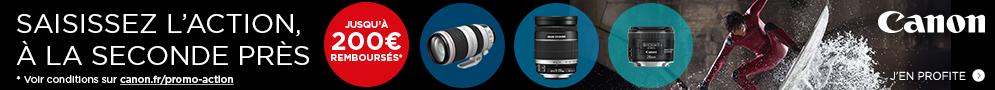 Jusqu'au 30 octobre, Canon rembourse jusqu'à 200€ sur une sélection d'objectifs