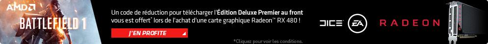Jusqu'au 18 octobre, AMD offre la mise à jour du jeu Battlefield 1 en version Edition Deluxe pour l'achat d'un produit éligible