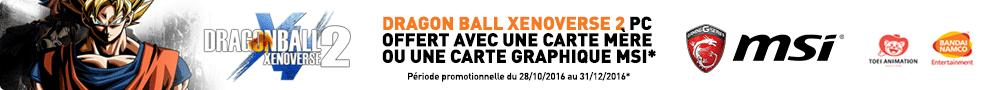 Jusqu'au 31 décembre, MSI offre le Jeu PC Dragon Ball Xenoverse 2 pour l'achat d'un produit éligible