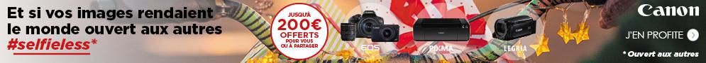 Jusqu'au 31 janvier, Canon rembourse jusqu'à 200€ pour l'achat d'un produit éligible