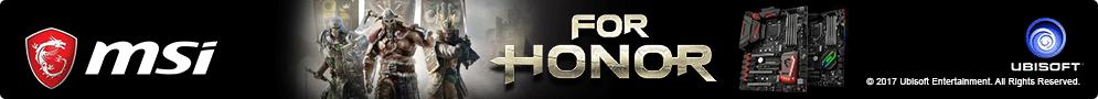 Jusqu'au 18 avril, MSI offre le Jeu PC For Honor pour l'achat d'une carte mère éligible