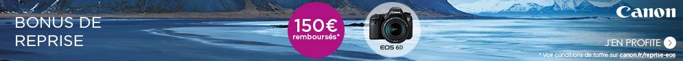 Jusqu'au 30 avril, rapportez votre ancien appareil photo numérique et recevez jusqu'à 150€ pour l'achat d'un nouveau reflex éligible