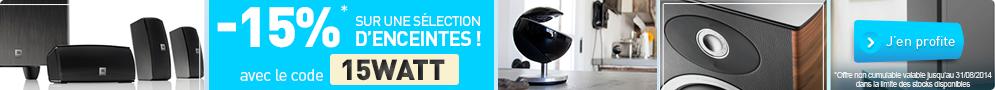 Jusqu'au 31/08/14, LDLC.com vous offre -15% sur plus de 170 enceintes hifi