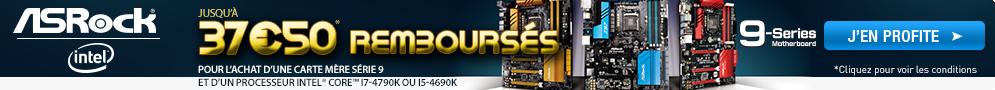 Jusqu'au 3 octobre, jusqu'à 37.50 € remboursés pour l'achat d'une carte mère ASRock et d'un processeur Intel sélectionnés