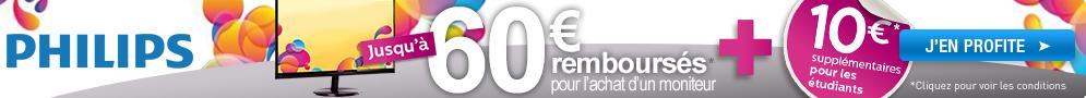 """Jusqu'au 30 septembre, Philips rembourse jusqu'à 60€ pour l'achat d'un moniteur 27"""" ou 28"""" éligible"""