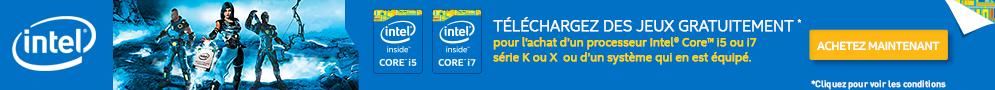 Jusqu'au 28 février 2015, Intel offre un Pack jeux pour l'achat d'un processeur Gaming éligible