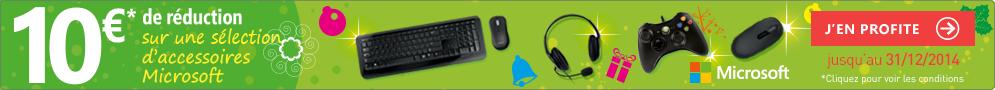 Jusqu'au 31 décembre, Microsoft rembourse 10€ sur une sélection de produits