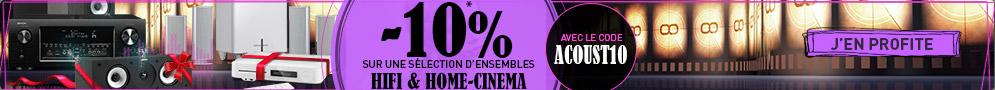 Jusqu'au 30 novembre, bénéficiez de 10% de réduction sur une sélection de produits HiFi et Home Cinema