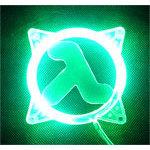 Achat Grille ventilateur PC Grille éclairée U.V. Half-Life pour ventilateur 80mm (vert)