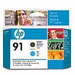Achat Cartouche imprimante HP 91 - C9460A - Tête d'impression (Noir mat, Cyan)