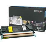 Achat Toner imprimante Lexmark C5222YS - Toner Jaune Standard (3000 pages à 5%)