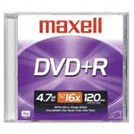 Achat DVD Maxell DVD+R 4.7 Go Certifié 16x (pack de 10)