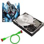 Achat Disque dur interne Maxtor DiamondMax 22 500 Go 7200 RPM 32 Mo Serial ATA II avec accessoires (Nappe UV + Vis) + Assassin's Creed - OEM (PC)