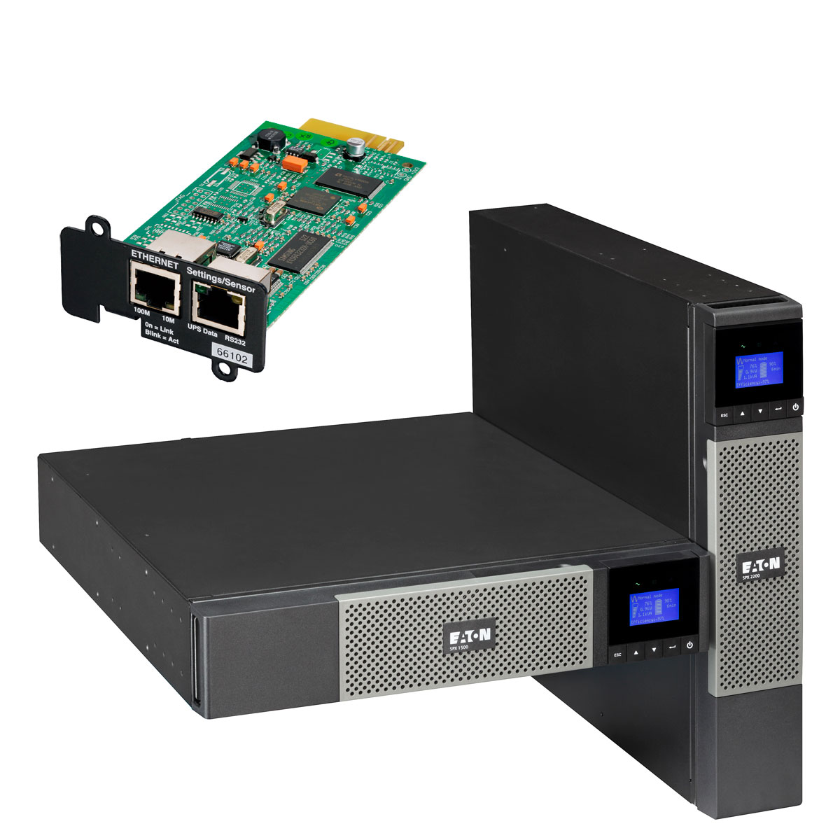 Onduleur Eaton 5PX 3000i RT2U Netpack Eaton 5PX 3000i RT2U Netpack - Onduleur Line interactive USB/Série 3000VA 2700W (Tour/Rack 2U)