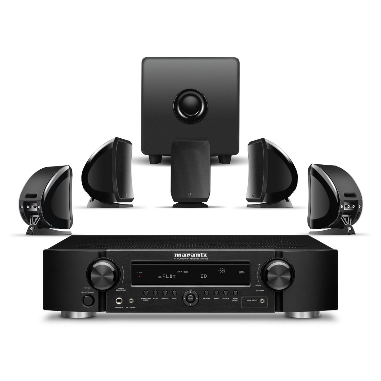 marantz nr1402 focal sib cub 2 jet noir ensemble. Black Bedroom Furniture Sets. Home Design Ideas