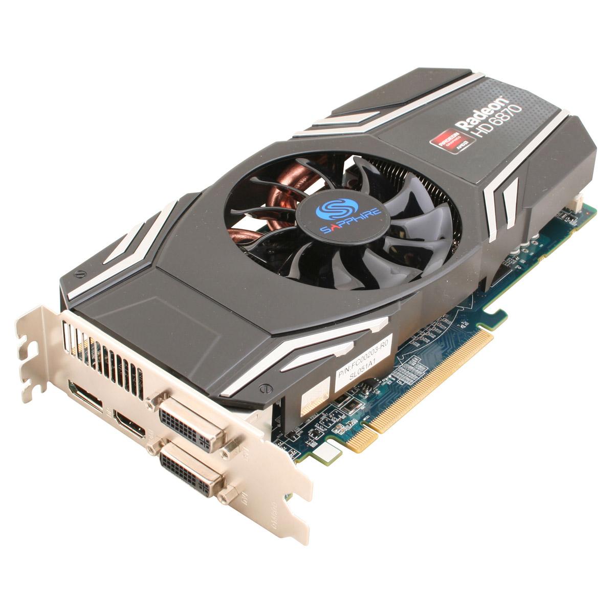 Carte graphique Sapphire Radeon HD 6870 1 GB 1 Go HDMI/Dual DVI/DisplayPort - PCI Express (AMD Radeon HD 6870)