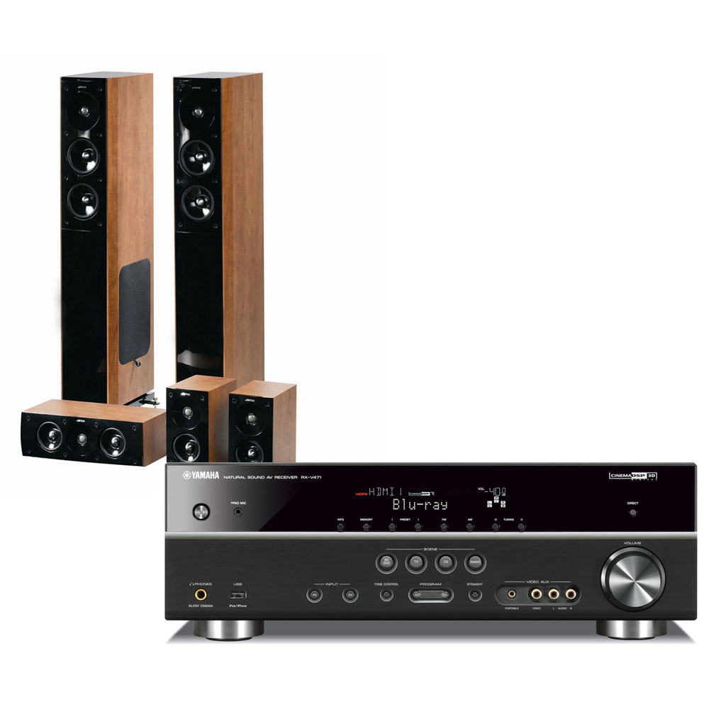 Yamaha rx v471 noir jamo s 606 hcs 3 dark apple ensemble home cin ma yama - Ensemble tv home cinema ...