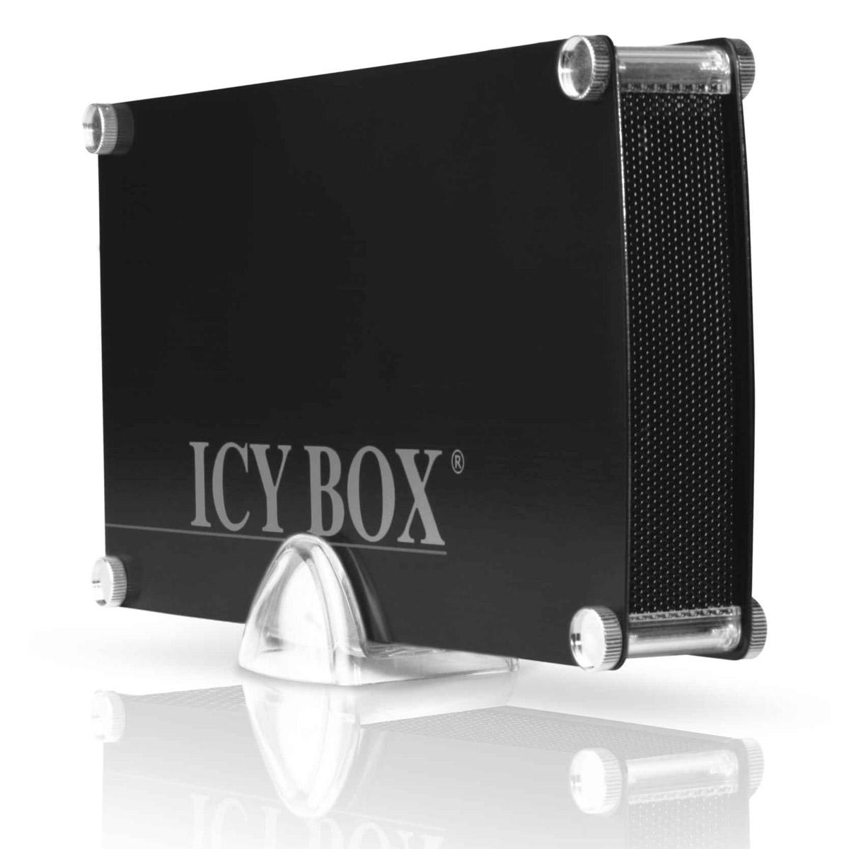 """Boîtier disque dur ICY BOX IB-351StU3-B ICY BOX IB-351StU3-B - Boîtier externe 3""""1/2 sur port USB 3.0 (coloris noir)"""