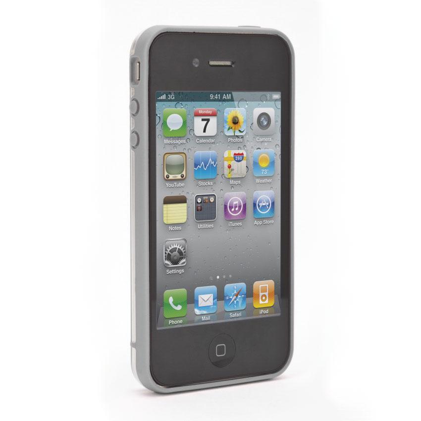 Etui téléphone xqisit iPlate Gris xqisit iPlate Gris - Coque pour iPhone 4