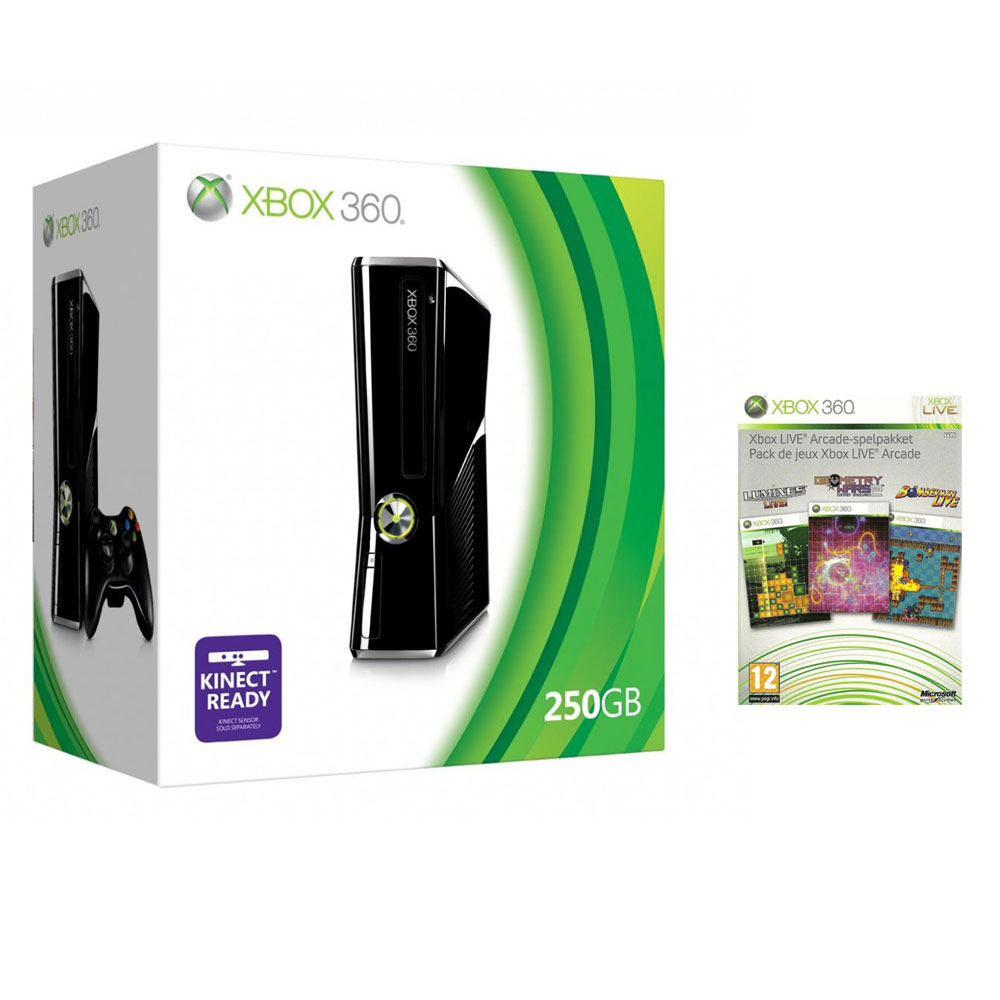 Console de jeux Microsoft Xbox 360 Slim 250 Go + Xbox LIVE Arcade Microsoft Xbox 360 Slim 250 Go + Xbox LIVE Arcade