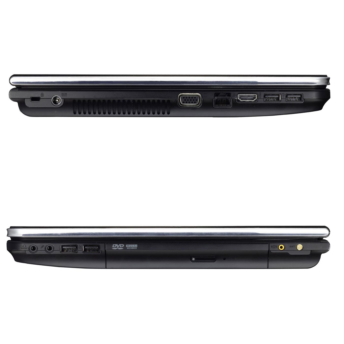 """PC portable ASUS N55SF-S1067V Intel Core i7-2630QM 6 Go 750 Go 15.6"""" LED NVIDIA GeForce GT 555M Combo Lecteur Blu-ray/Graveur DVD Wi-Fi N/Bluetooth Webcam Windows 7 Premium 64 bits (garantie constructeur 2 ans)"""