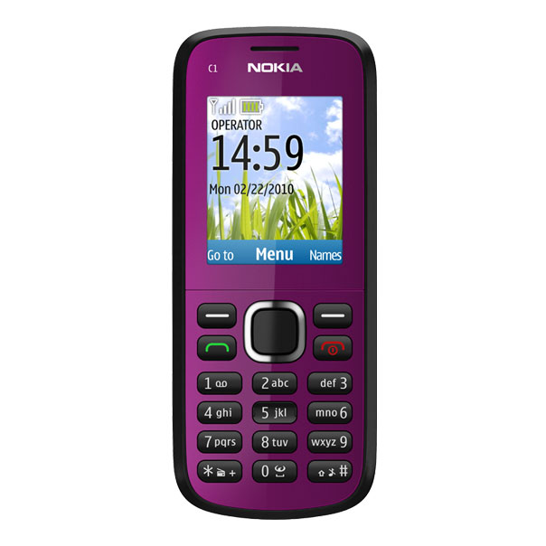 nokia c1 02 plum t l phone d bloqu tout op rateur mobile smartphone nokia sur ldlc. Black Bedroom Furniture Sets. Home Design Ideas