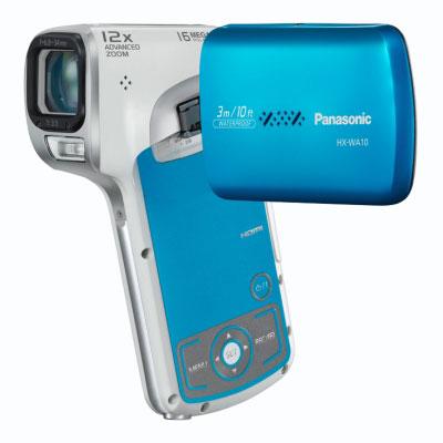 Caméscope numérique Panasonic HX-WA10 Bleu Caméscope vertical Full HD Carte mémoire étanche 3 m