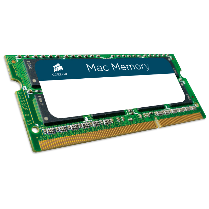 Mémoire PC Corsair Mac Memory SO-DIMM 4 Go DDR3 1333 MHz CL9 RAM SO-DIMM DDR3 PC10600 pour Mac - CMSA4GX3M1A1333C9 (garantie 10 ans par Corsair)