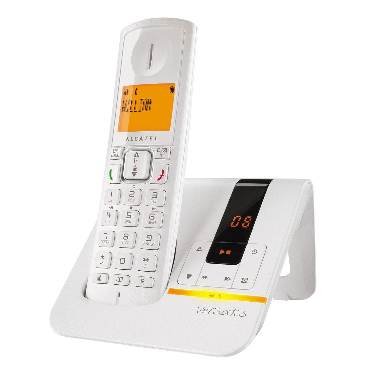 alcatel versatis f200 voice blanc t l phone sans fil alcatel sur ldlc. Black Bedroom Furniture Sets. Home Design Ideas