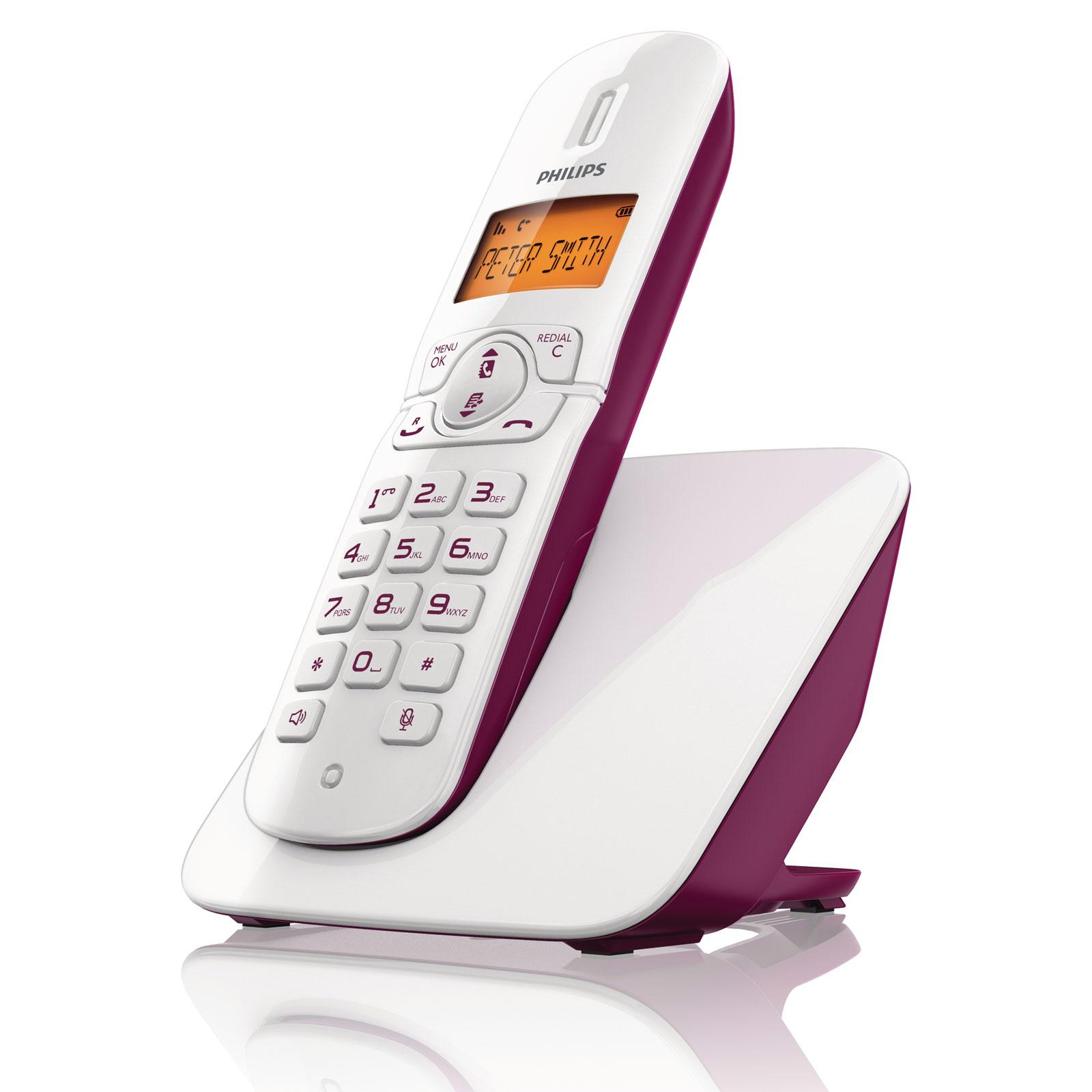 philips cd1811 blanc prune t l phone sans fil philips sur ldlc. Black Bedroom Furniture Sets. Home Design Ideas