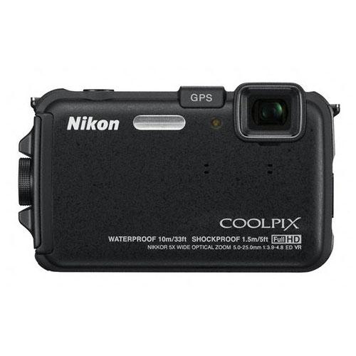 Appareil photo numérique Nikon Coolpix AW100 Noir Appareil photo étanche et anti-choc 16 MP - Zoom 5x - Vidéo HD
