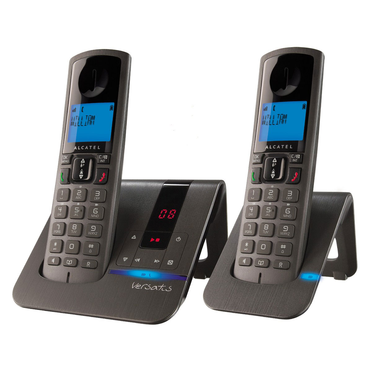 alcatel versatis f250 voice duo noir t l phone sans fil. Black Bedroom Furniture Sets. Home Design Ideas