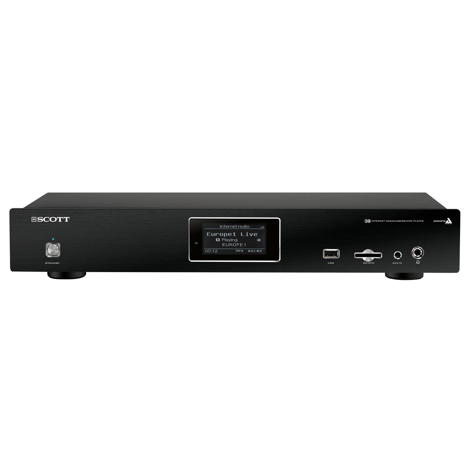Serveur audio Scott DXi 80 WL Récepteur webradio Ethernet et Wi-Fi