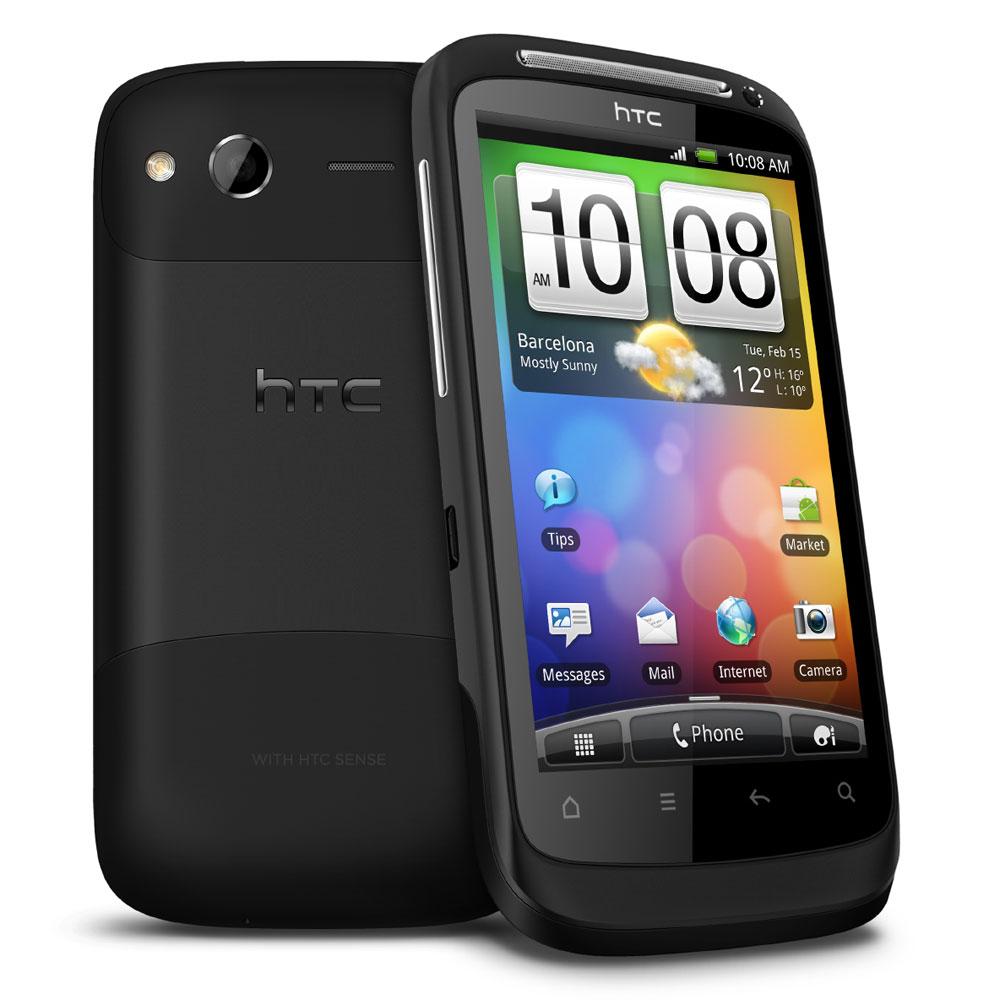 """Mobile & smartphone HTC Desire S Noir Smartphone 3G+ avec écran tactile 3.7"""" sous Android"""