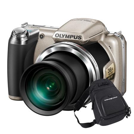 Appareil photo numérique Olympus SP-810UZ Argent + Fourre Tout Appareil photo 14 MP - Zoom 36x - Vidéo HD (garantie constructeur 2 ans)