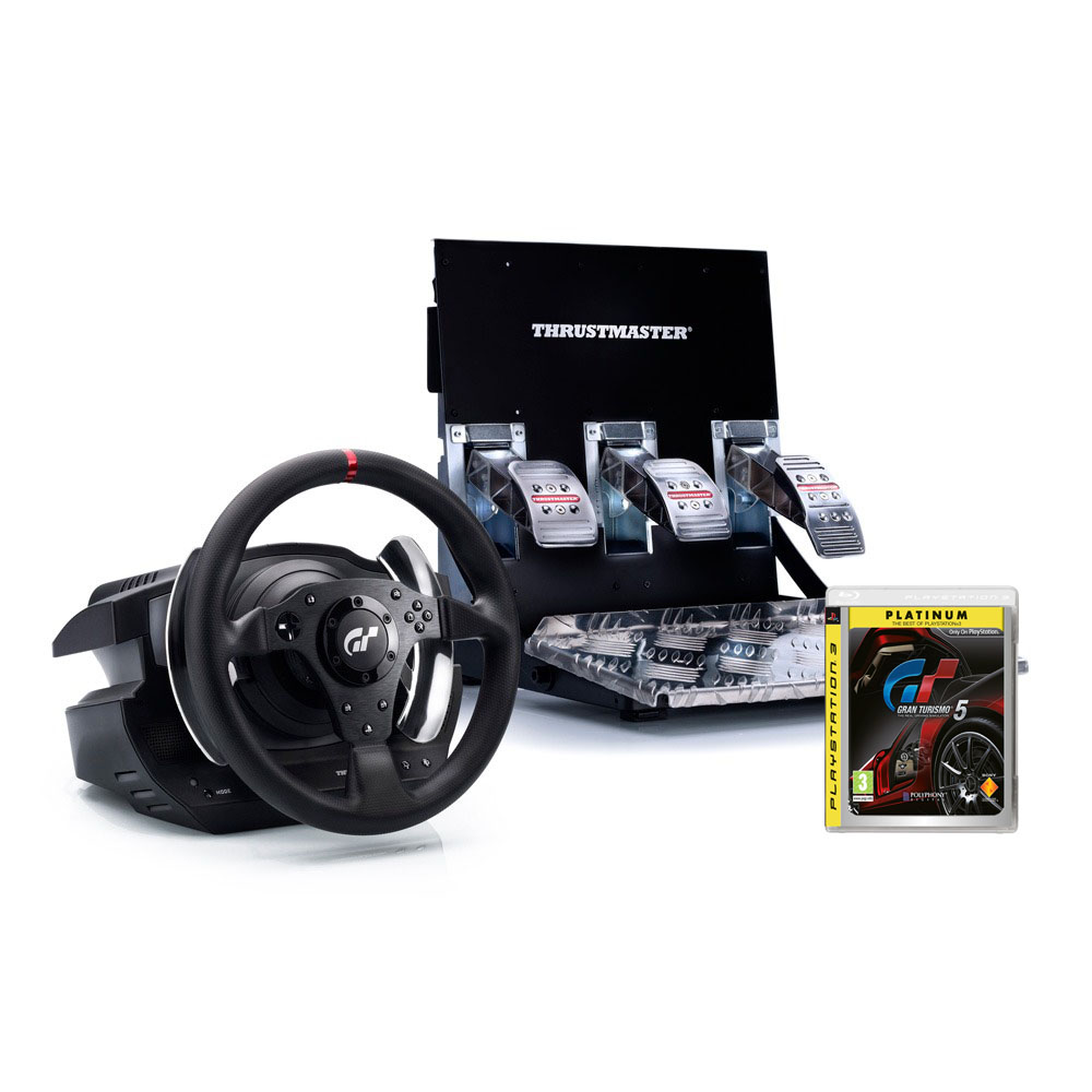 thrustmaster t500 rs gran turismo 5 platinum achat vente volant pc sur. Black Bedroom Furniture Sets. Home Design Ideas