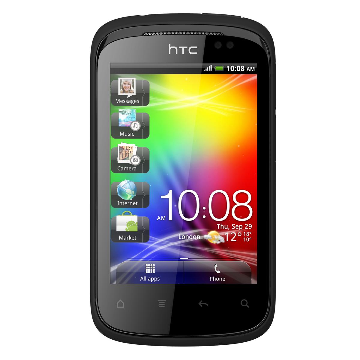 """Mobile & smartphone HTC Explorer Smartphone 3G+ avec écran tactile 3.2"""" sous Android 2.3"""
