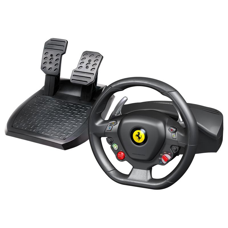 Accessoires Xbox 360 Thrustmaster Ferrari 458 Italia Ensemble de pilotage avec volant et pédalier (compatible PC et Xbox 360)