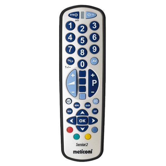 Télécommande Meliconi Gumbody Smart Senior 2 Télécommande universelle 2 en 1